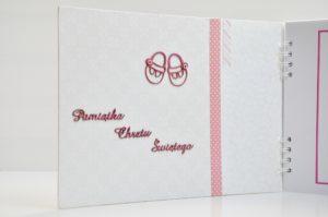 album na chrzest dla dziewczynki