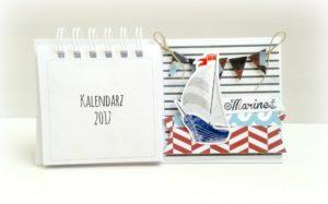 kalendarz 2017 na biurko handmade