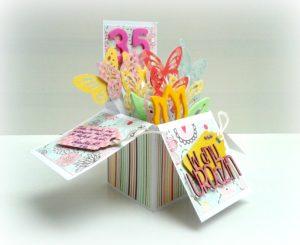 urodzinowy pop up card