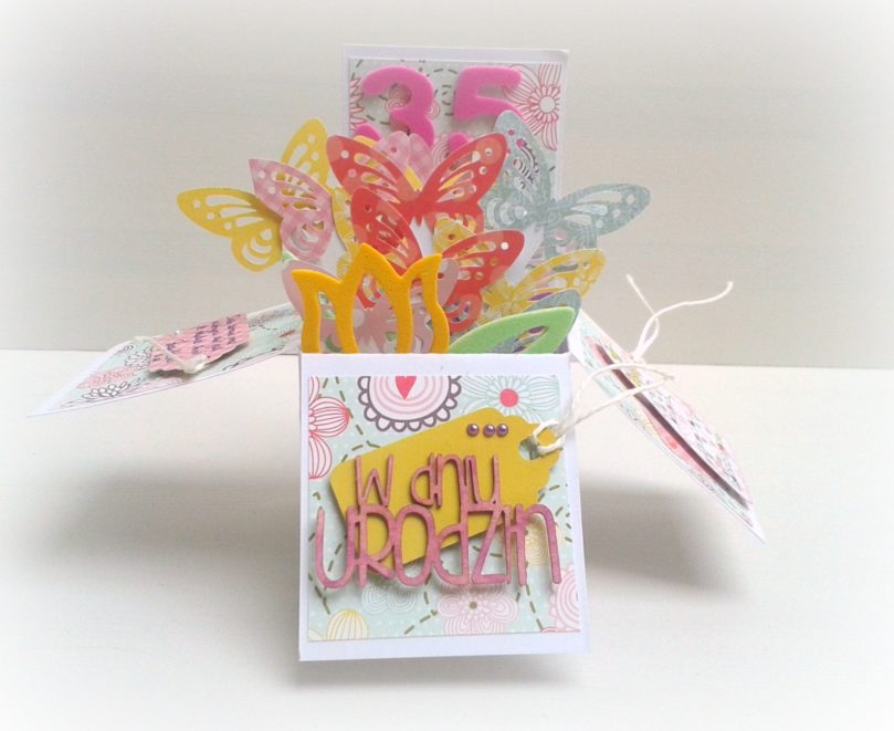 urodzinowy pop up card