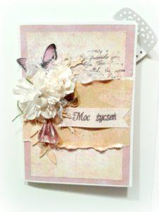 kartka urodzinowa w fioletach