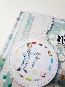 Kartka ręcznie robiona dla mężczyzny na urodziny dla lekarza.