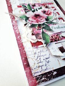 Ręcznie robiona kartka okolicznościowa  z okazji rocznicy ślubu.