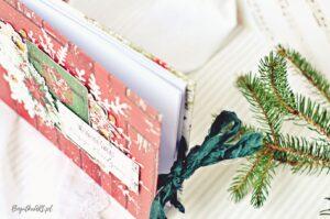 Album w świątecznych kolorach do samodzielnego wklejenia zdjęć kolory czerwony, zielony złoty
