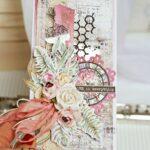 kartka okolicznościowa z kwiatami