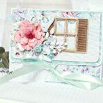 kartka z miejscem na pieniążki z kwiatem